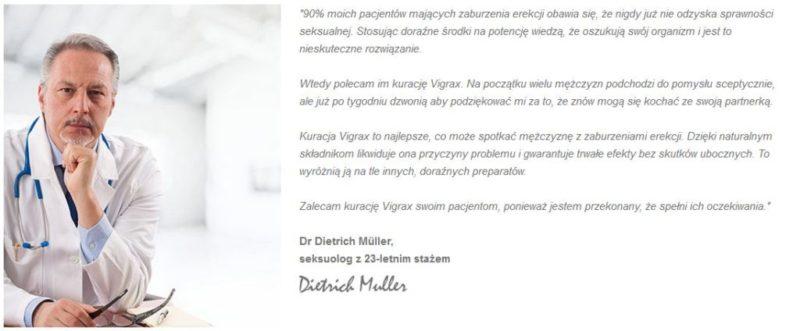 Opinie lekarzy na temat Vigrax