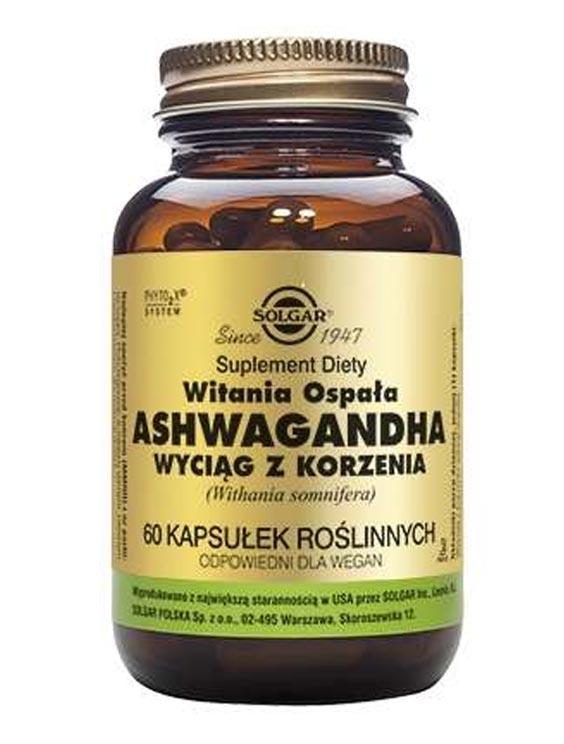 Solgar Żeń Szeń Indyjski Ashwagandha właściwości lecznicze