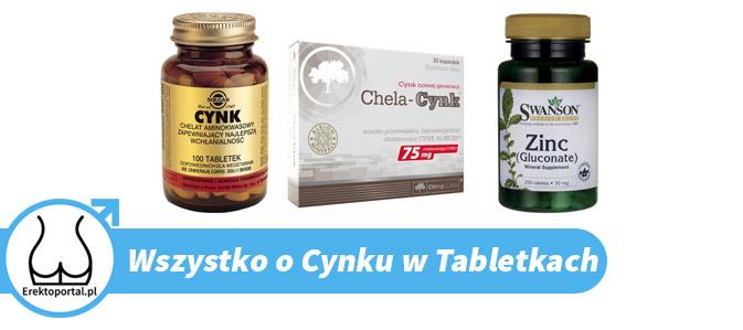 Suplement cynk w tabletkach ma opinie produktu dającego szybko efekty u mężczyzn
